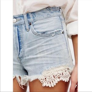 Free people jean shorts 💙